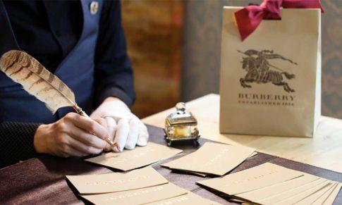 【英國Burberry。博柏利】御用首席字藝家韓玉青設計英倫風格手工鋼筆字體。